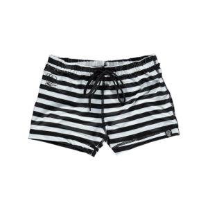 מכנס בגד ים פסים שחור לבן לילדים ותינוקות