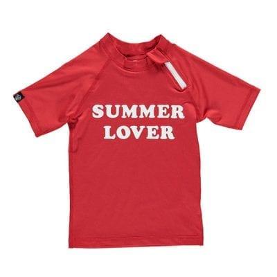 חולצת בגד ים אדומה לילדים