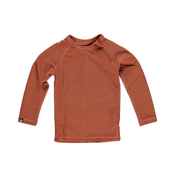 חולצת בגד ים צבע אדמה