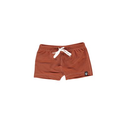 מכנס בגד ים בצבע אדמה