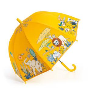 מטריה מפלסטיק חצי שקוף בצבע כתום