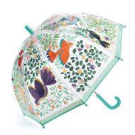מטריה שקופה מאויירת באיורי טבע