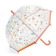 מטריה שקופה מפלסטיק לחורף