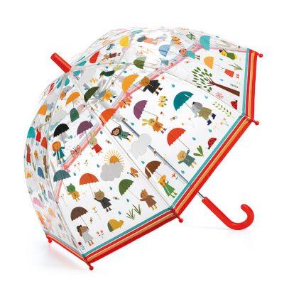 מטריה שקופה מאויירת לילדים