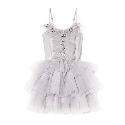 שמלת טוטו לילדה עם טול ונצנצים