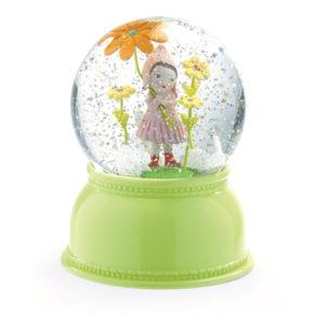 מנורת לילה כדור בדולח ילדת פרחים