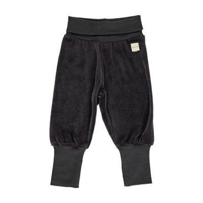 מכנסיים ארוכים דקים בצבע שחור