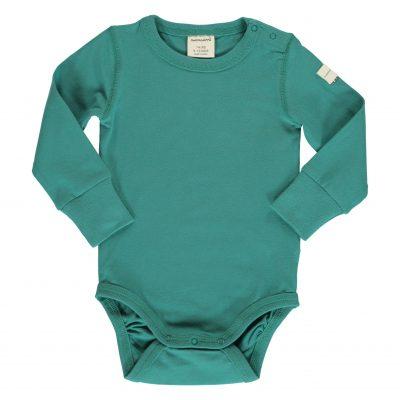 בגד גוף שרוול ארוך בצבע ירוק