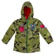 מעיל גשם לילדים בהדפס צבאי