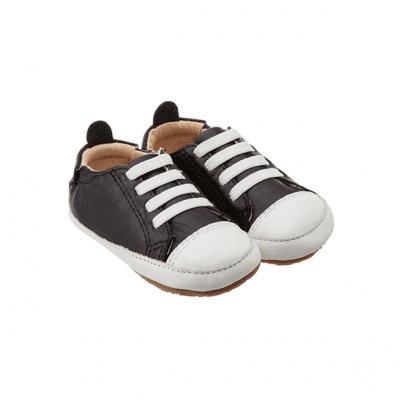 נעלי שרוכים שחורות לפעוטות