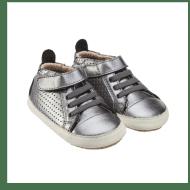נעלי חורף לילדים בצבע כסף
