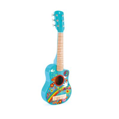 גיטרה עץ לילדים מאויירת