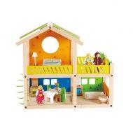 בית בובות עשוי עץ צבעוני
