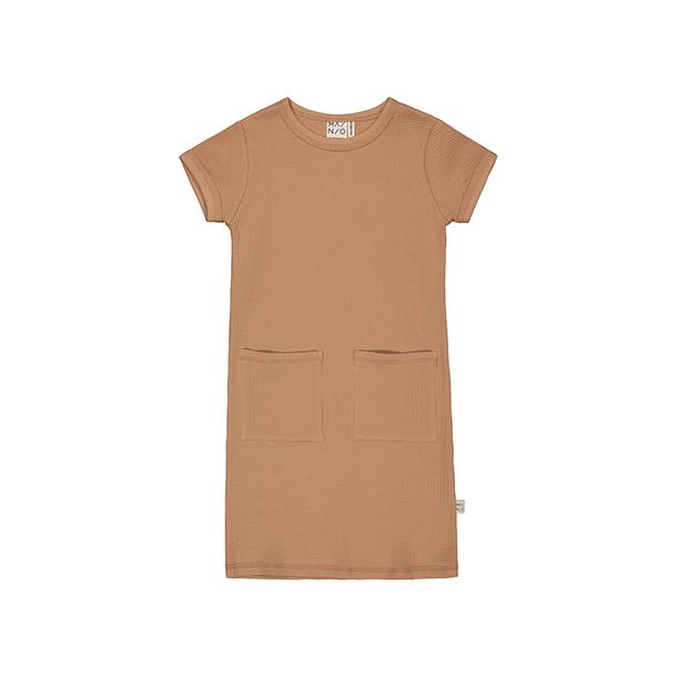 שמלה לילדות בגוון חום כתום