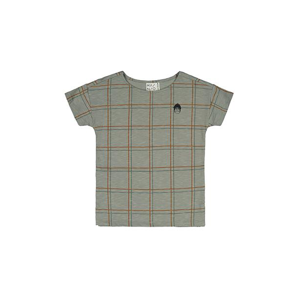חולצת כותנה אורגנית אפורה לילדים ותינוקות