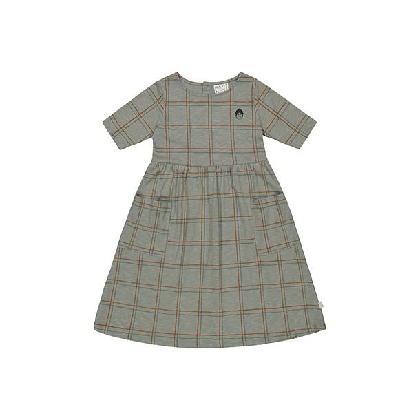 שמלה שרוול קצר עם כיסים