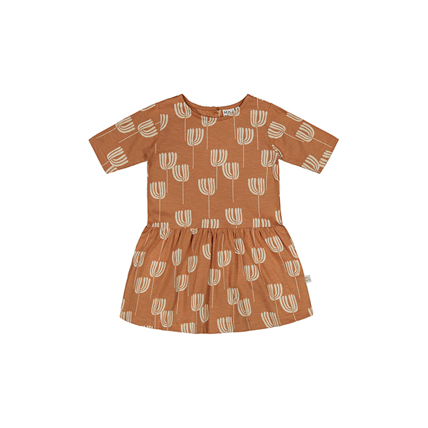 שמלה עם כפתורים מאחור לילדות ותינוקות
